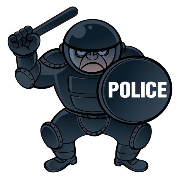 警察铅笔画儿童简笔画
