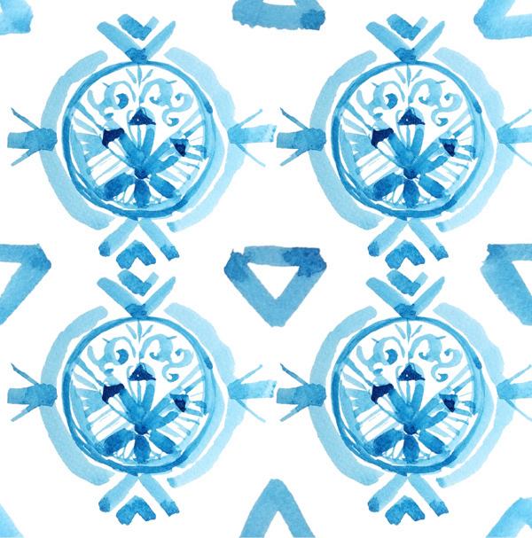 水彩画矢量图17
